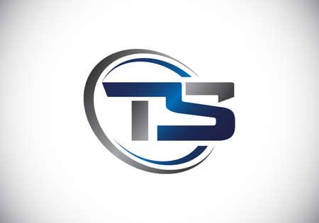 Initial Monogram Letter T S Logo Design Vector Template. Graphic Alphabet Symbol for Corporate Business Identity
