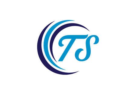 Initial Monogram Letter T S Logo Design Vector Template. TS Letter Logo Design