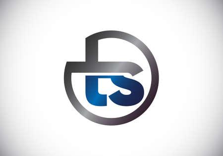 Initial Monogram Letter T S Logo Design Vector Template. Graphic Alphabet Symbol for Corporate Business Identity Logó