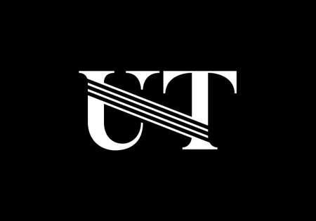 Initial Monogram Letter U T Logo Design Vector Template. Graphic Alphabet Symbol for Corporate Business Identity Banque d'images - 146561931