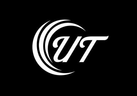 Initial Monogram Letter U T Logo Design Vector Template. UT Letter Logo Design