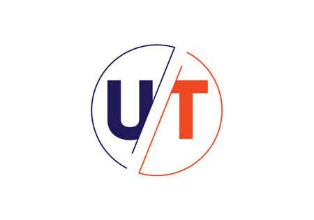 Initial Monogram Letter U T Logo Design Vector Template. Graphic Alphabet Symbol for Corporate Business Identity