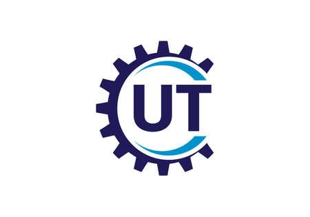 Initial Monogram Letter U T Logo Design Vector Template. UT Letter Logo Design Banque d'images - 146562149