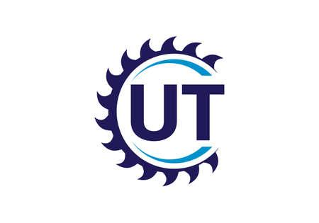 Initial Monogram Letter U T Logo Design Vector Template. UT Letter Logo Design Banque d'images - 146562165