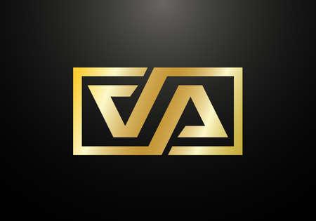 Initial Monogram Letter V A Logo Design Vector Template. Graphic Alphabet Symbol for Corporate Business Identity