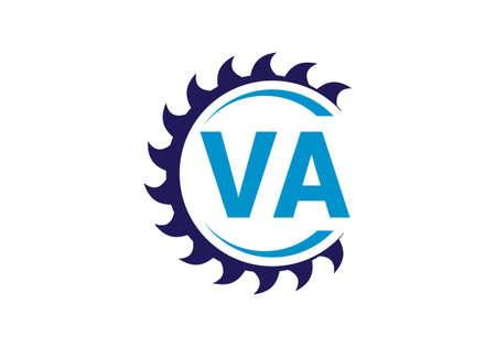 Initial Monogram Letter V A Logo Design Vector Template. VA Letter Logo Design