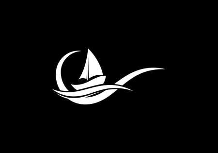 Ship Logo, cruise ship Logo Design Vector template, Boat sign symbol Ilustracja