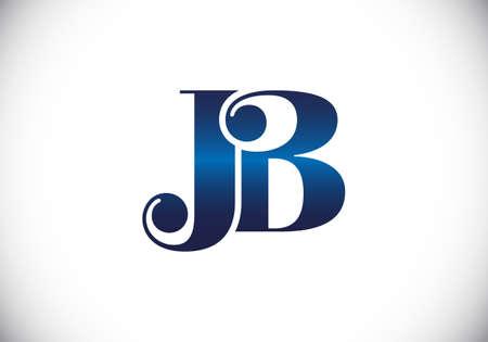Initial Monogram Letter J B Logo Design Vector Template. JB Letter Logo Design Logó