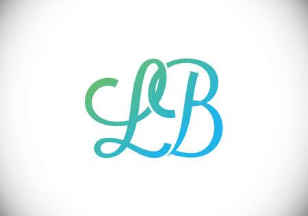 Initial Monogram Letter LB Logo Design Vector Template. L B Letter Logo Design Reklamní fotografie - 151134275