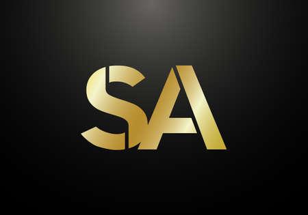 Initial Monogram Letter S A Logo Design Vector Template. S A Letter Logo Design Illustration