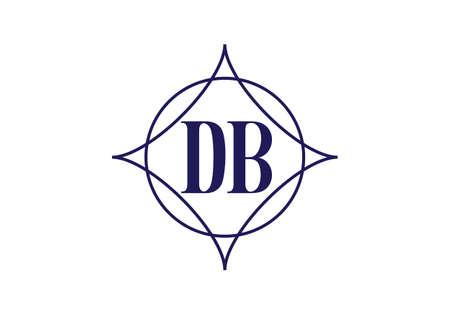Initial Monogram Letter D B Logo Design Vector Template. D B Letter Logo Design