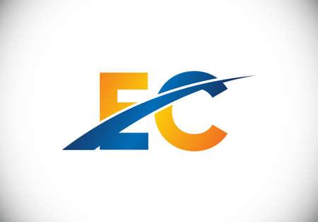 Initial Monogram Letter E C Logo Design Vector Template. E C Letter Logo Design Logo
