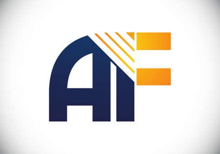 A F letter sign symbol. Initial Letter A F Logo Design Vector Template. Monogram logo