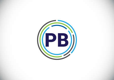 P B Initial Letter Logo design, Graphic Alphabet Symbol for Corporate Business Identity