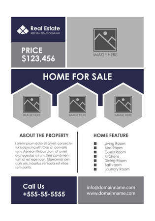 Modern Real Estate Business Flyer Design Template