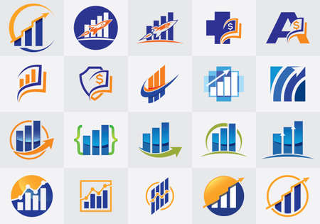 Finance and Accounting  Design Set Vector Template