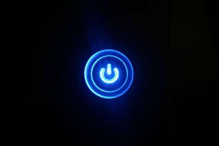 powerbutton: Encendido de bot�n Foto de archivo