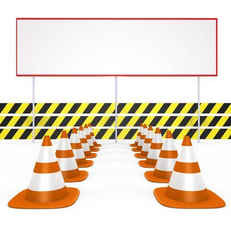 Under construction, enter your message - a 3d image