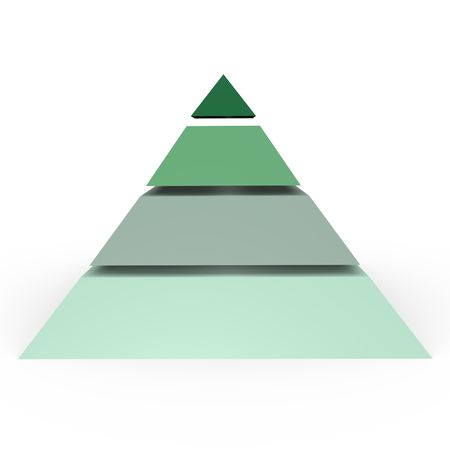 A 4 level pyramid - a 3d image photo