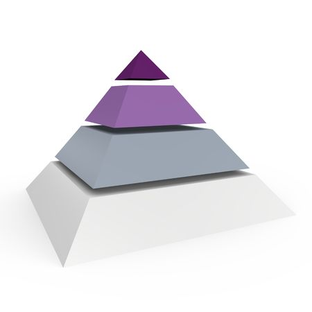 floor level: A 4 level pyramid - a 3d image Stock Photo