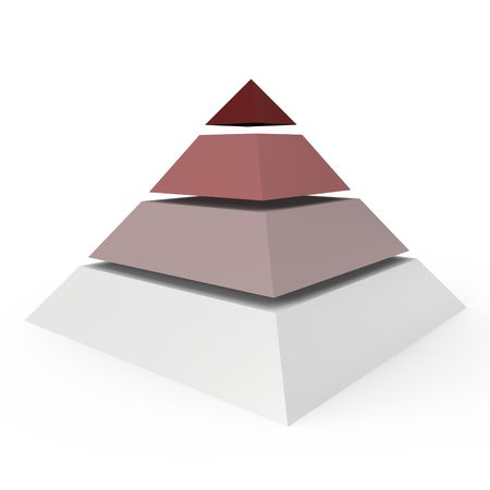 A 4 level pyramid - a 3d image Stock Photo