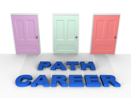 A choice for your career - a 3d image Stock Photo