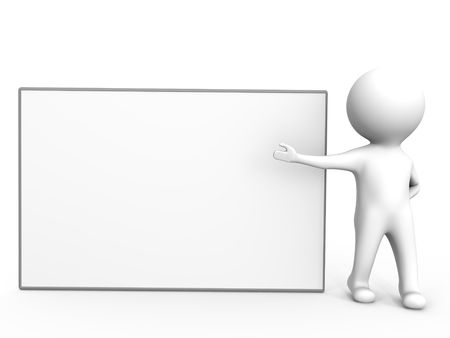 An empty presentation board - a 3d image