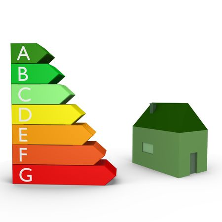 rankings: Energy rankings with a house- a 3d image