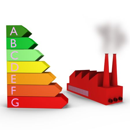 rankings: Energy rankings with a factory - a 3d image