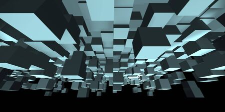 An abstract cube design - a 3d image Stock Photo - 6918720