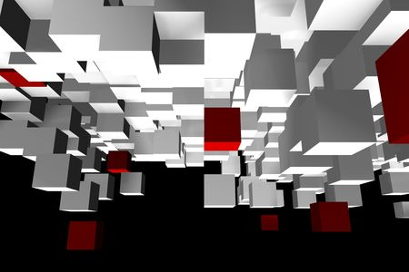 differ: An abstract cube design - a 3d image