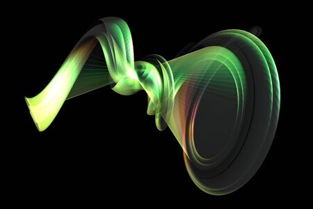 An abstract shape in colors - a 3d image photo