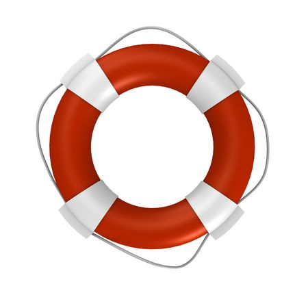 life ring: An isolated life buoy - a 3d image