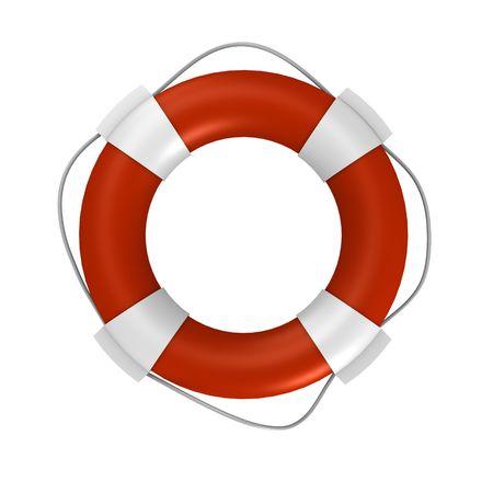 aro salvavidas: Una boya aislado de la vida - una imagen 3d
