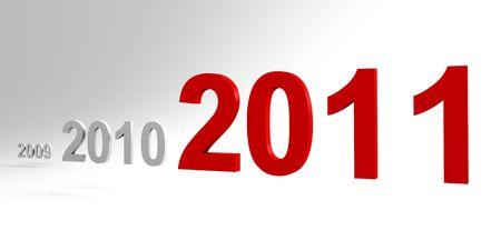 cronologia: Se viene el nuevo a�o 2011 - un 3d de imagen  Foto de archivo