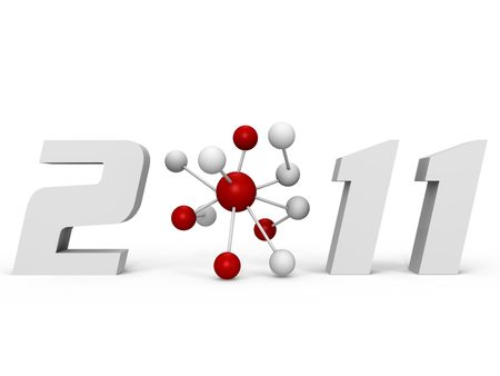 2011 International Year of Chemistry - a 3d image