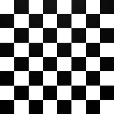 A chessboard pattern from top - 3d image Stock Photo