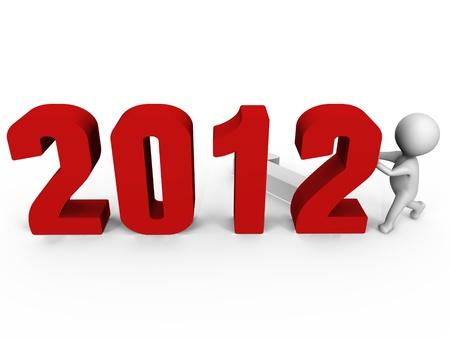 cronologia: Reemplazo de n�meros para la imagen del formulario nuevo a�o 2012-3d