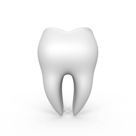 An isolated 3d tooth - a 3d image Stock Photo