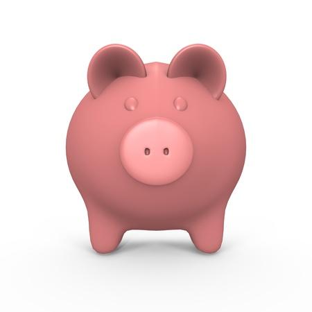 A pink piggy bank - a 3d image Stock Photo
