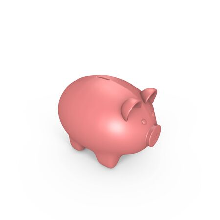 A pink piggy bank - a 3d image Stock Photo