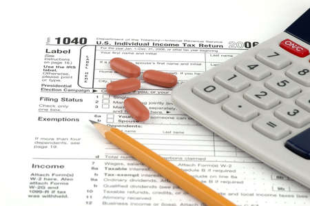 exemptions: Getting ready to begin filling in a tax return.