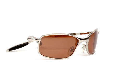 Close-up of sunglasses on a white background. Stock Photo