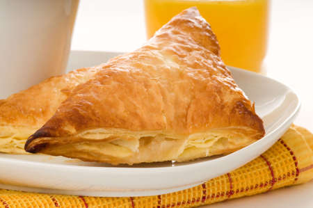 turnover: Fresh baked apple turnover on a plate.