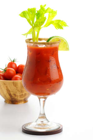 Delicious cocktail made with fresh tomato juice. Stock Photo
