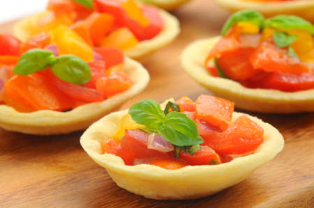 meatless: Italian styles appetizer of tomatoes, garlic and basil.