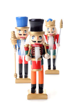 Traditional Christmas nutcrackers on a white background. Imagens - 8061759