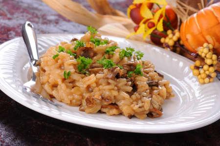 Heerlijke risotto gemaakt met wild porcini paddestoelen.