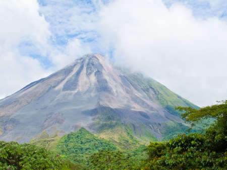 Landscape of the arenal volcano in Costa Rica. Stok Fotoğraf