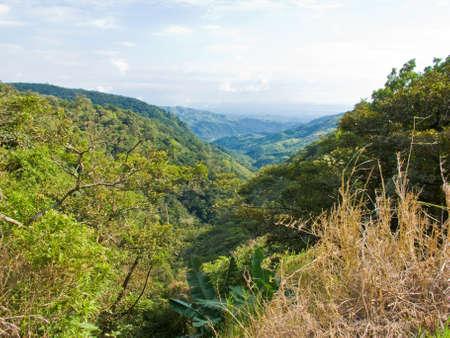 Landscape of the Monteverde area of Costa Rica